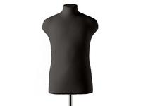 Мягкий портновский мужской манекен RDF John, черный