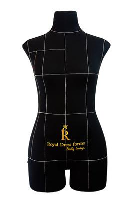 Профессиональный мягкий манекен Royal Dress forms Monica (черный)