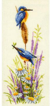 """Набор для вышивания Vervaco """"Зимородки"""" 2002-29156"""