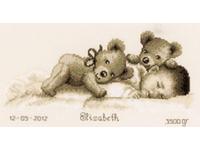 """Набор для вышивания Vervaco """"Малыш и плюшевые мишки"""" PN-0143730"""
