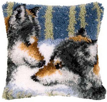 Набор для вышивания Vervaco Ковровая подушка 40х40 см PN-0145653
