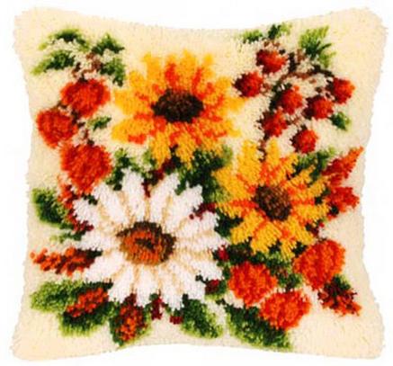 Набор для вышивания Vervaco Ковровая подушка 40х40 см PN-0014260