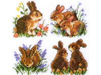 """Набор для вышивания PAKO """"Кролики"""" 217-714"""