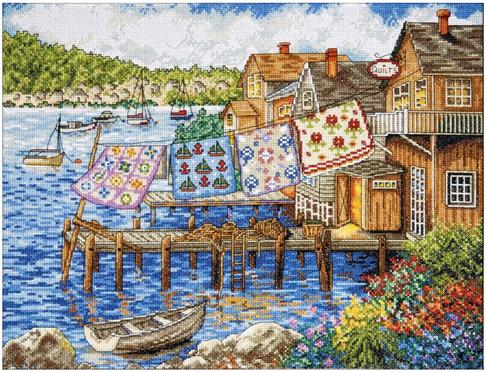 """Набор для вышивания DESIGN WORKS """"Одеяла на пристани"""" 2780"""