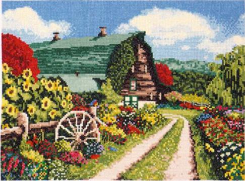 "Набор для вышивания DESIGN WORKS ""Амбар и цветы"" 2329"