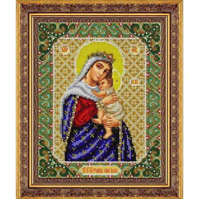 """Набор для вышивания бисером ПАУТИНКА Икона """"Пр.Богородица Отчаянных единая надежда"""" Б1062"""