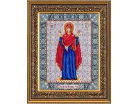 """Набор для вышивания бисером ПАУТИНКА Икона """"Богородица Нерушимая стена"""" Б1028"""