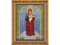 """Набор для вышивания бисером ПАУТИНКА Икона """"Богородица Благодатное небо"""" Б1029"""