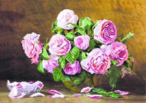 Набор для вышивания бисером Матренин посад Розовый аромат 31/Б