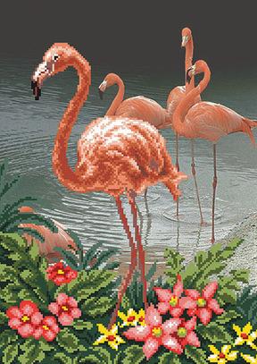 Набор для вышивания бисером Матренин посад Фламинго 02/Б