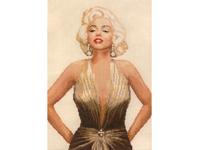 """Набор для вышивания Vervaco """"Мерлин Монро в золотом платье"""" 2002-65068"""