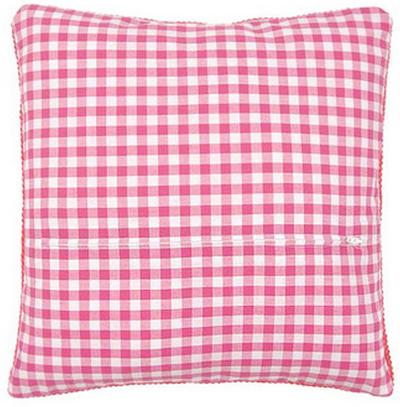 Обратная сторона подушки Vervaco розовая клетка с молнией 45х45 см  PN-0154662
