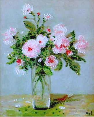 Набор для вышивания бисером DESIGN WORKS Розовые розы 2397