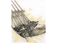 """Набор для вышивания PAKO """"Котенок в гамаке"""" 237-085"""