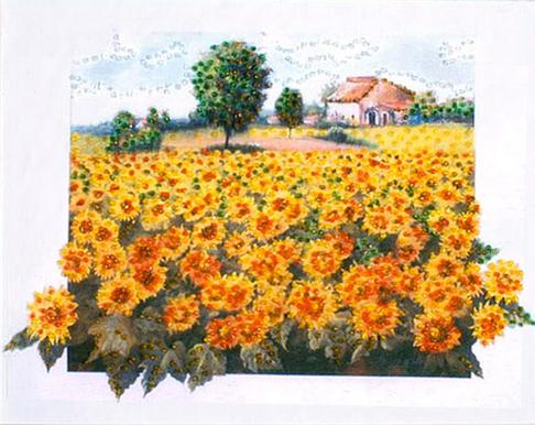 """Набор для вышивания бисером DESIGN WORKS """"Поле подсолнухов"""" (""""Sunflower Field"""") 2453"""