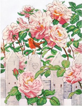 """Набор для вышивания DESIGN WORKS """"Провинциальные розы"""" 2786"""