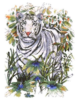 """Набор для вышивания DESIGN WORKS """"Белый тигр"""" 2746"""