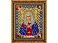 """Набор для вышивания бисером ПАУТИНКА Икона """"Пресвятая Богородица Умиление """" Б1047"""