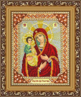 """Набор для вышивания бисером ПАУТИНКА Икона """"Богородица Троеручица"""" Б1016"""
