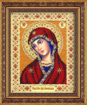 """Набор для вышивания бисером ПАУТИНКА Икона """"Богородица Огневидная"""" Б1025"""