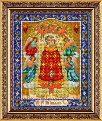 """Набор для вышивания бисером ПАУТИНКА Икона """"Пр.Богородица Прибавление ума"""" Б1042"""