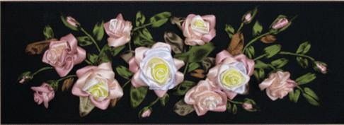 Набор для вышивания лентами Чарiвна Мить Розы Л-007