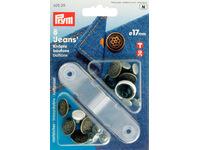 Джинсовые кнопки-пуговицы Prym нержавеющие, 17мм, состаренная латунь, арт. 622211