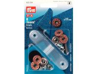 Джинсовые кнопки-пуговицы Prym нержавеющие, 17мм, состаренная бронза, арт. 622238