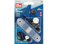 Джинсовые кнопки-пуговицы Prym нержавеющие, 14мм, состаренная медь, арт. 622200