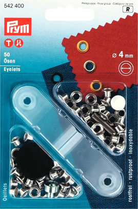 Блочки для ремня Prym нержавеющие, латунь, 4мм, серебристый, арт. 542400
