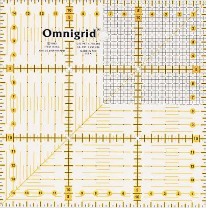 Универсальная линейка с сантиметровой шкалой Prym 15*15 см арт. 611306