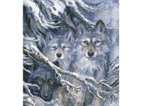 """Набор для создания алмазной мозаики ПАУТИНКА """"Волки"""" М302"""
