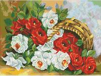 """Набор для создания алмазной мозаики ПАУТИНКА """"Корзина роз"""" М210"""