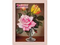 """Картина стразами (набор) """"Розы в фужере"""""""