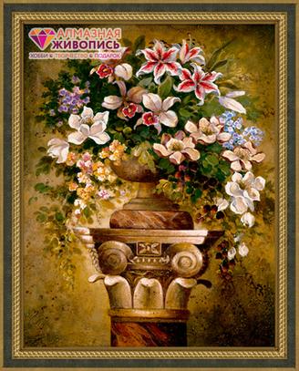 Картина стразами (набор) «Цветы на пьедестале»