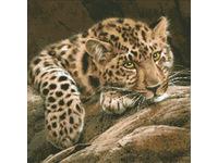 """Набор для создания алмазной мозаики ПАУТИНКА """"Леопард"""" М304"""