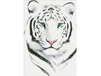 """Набор для создания алмазной мозаики ПАУТИНКА """"Белый тигр"""" М306"""