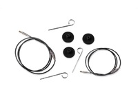 Тросик (заглушки 2шт, ключик) для съемных спиц KnitPro длина 35 (60)см арт. 10521