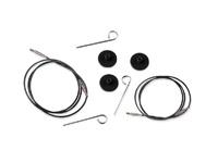 Тросик (заглушки 2шт, ключик) для съемных спиц KnitPro длина 56 (80)см арт. 10522