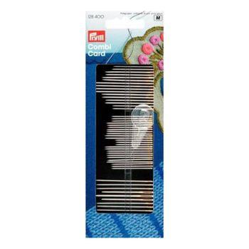 Иглы ручные Prym набор д/шитья, вышивки, штопки с нитевдевателем арт. 128400