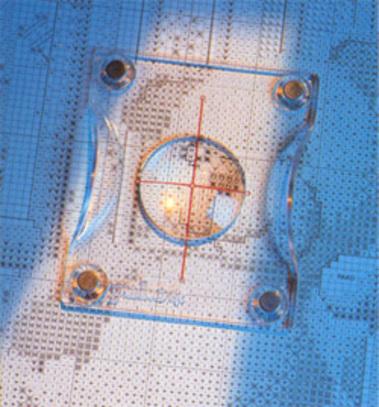 Органайзер-подставка для счетного креста с магнитным транспортиром-линзой PAKO 749-500