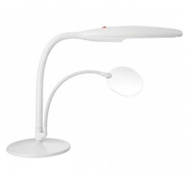 Лампа настольная с лупой Daylight Company белая (арт. D 23020)