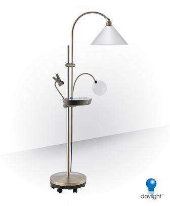 Лампа напольная - торшер для рукоделия Daylight Company (медь) (арт. E 21098)