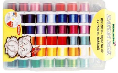 Набор вышивальных ниток Madeira Rayon 8082