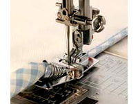 Лапка для швейных машин Janome с горизонтальным челноком для окантовки косой бейкой (арт. 200-313-005)