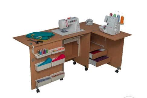 Стол для швейной машинки Комфорт - 5 + поверхность для раскроя