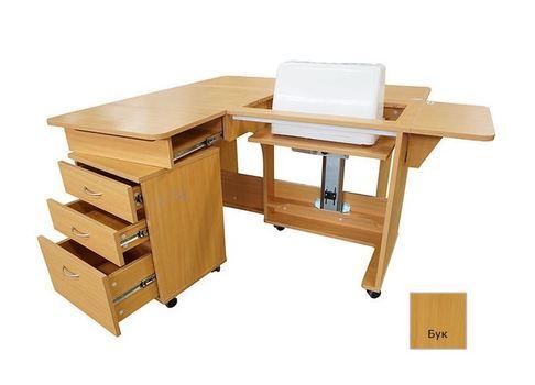 Стол раскладной с раскройным местом (QD-B001), Бук