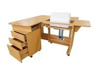 Стол раскладной с раскройным местом (QD-T001), Тик