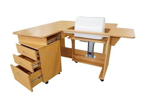 Стол раскладной с раскройным местом (QD-W001), Белый