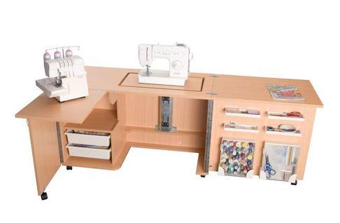 Стол раскладной с раскройным местом (E-W001), Белый